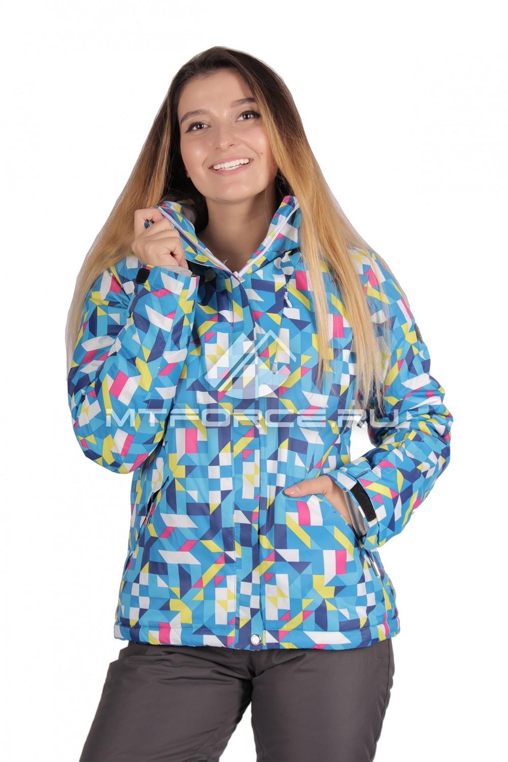 Купить                                  оптом Куртка горнолыжная женская синего цвета 1631S в Санкт-Петербурге