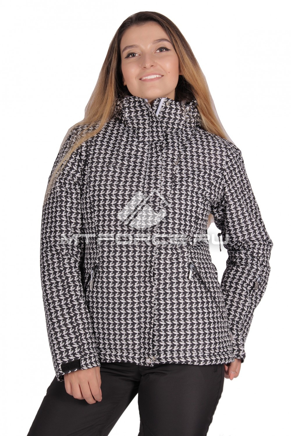 Купить                                  оптом Куртка горнолыжная женская черного цвета 1631Ch