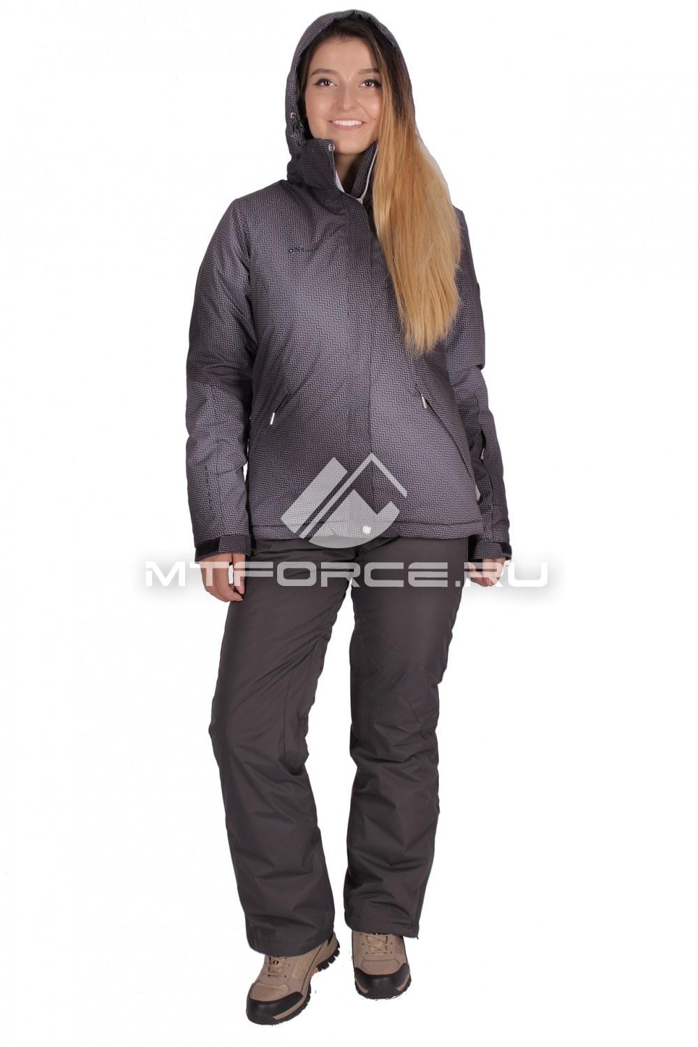Купить                                  оптом Костюм горнолыжный женский темно-серого цвета 01631TC