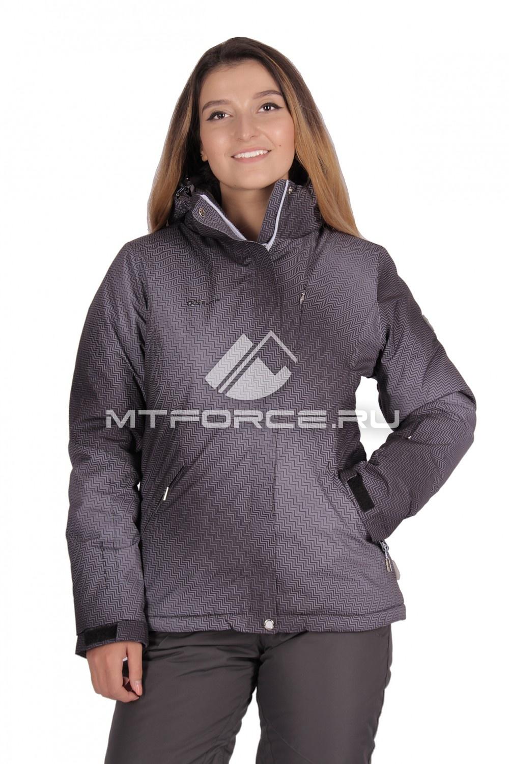 Купить                                  оптом Куртка горнолыжная женская серого цвета 1631Sr