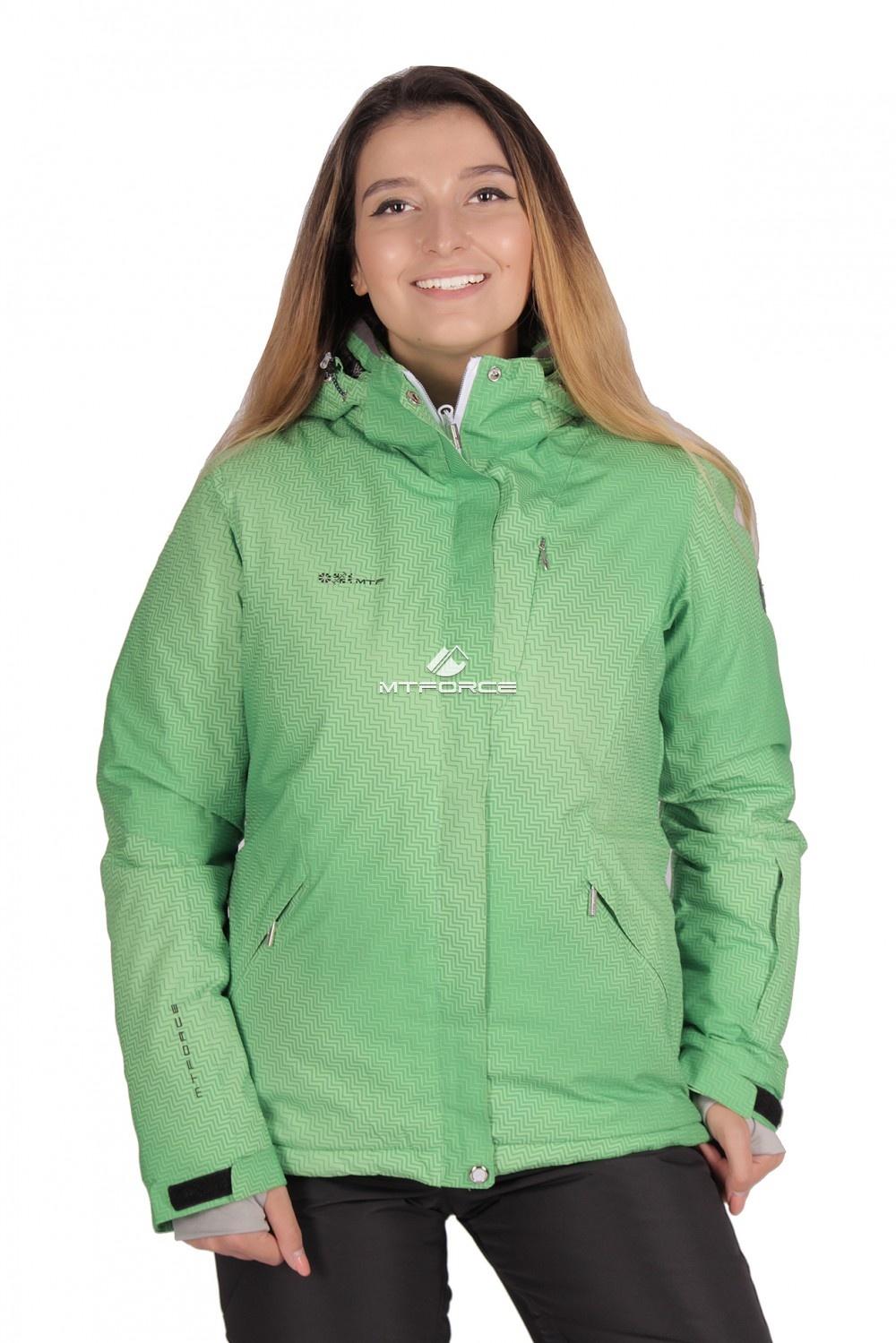 Купить                                  оптом Куртка горнолыжная женская зеленого цвета 1631Z