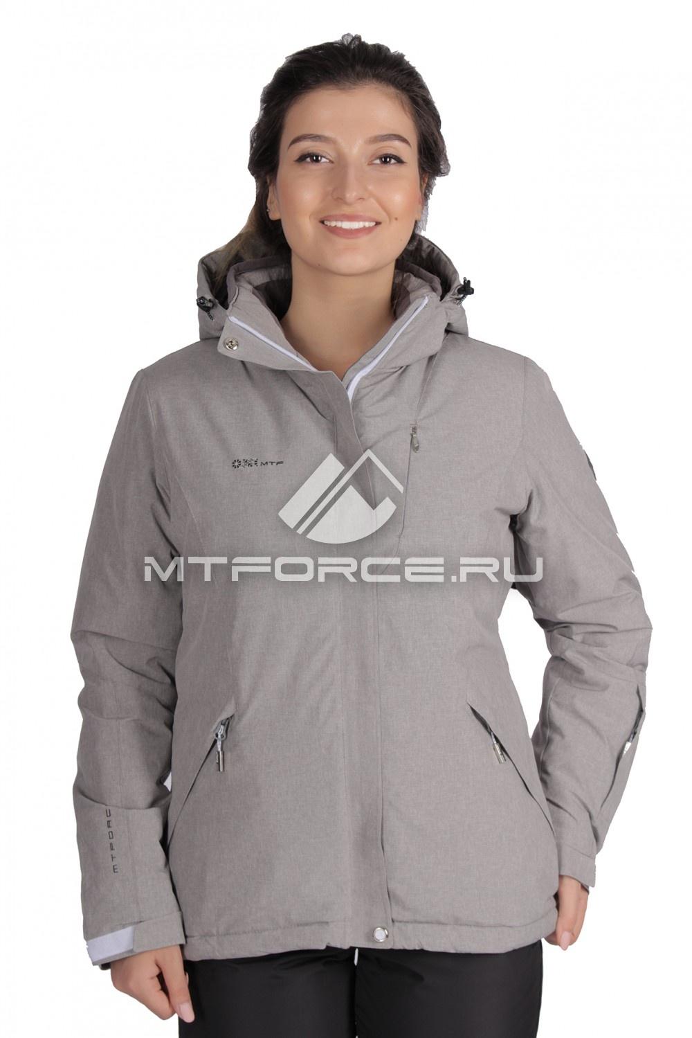 Купить                                  оптом Куртка горнолыжная женская серого цвета 1631-1Sr в Санкт-Петербурге
