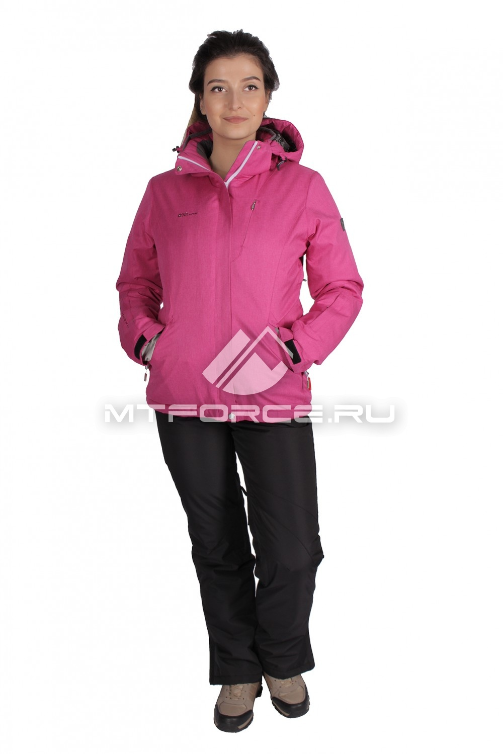 Купить                                  оптом Костюм горнолыжный женский розового цвета 01631-1R