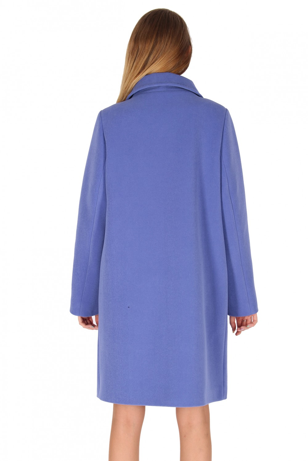 Купить оптом Пальто женское голубого цвета 16318Gl в Перми