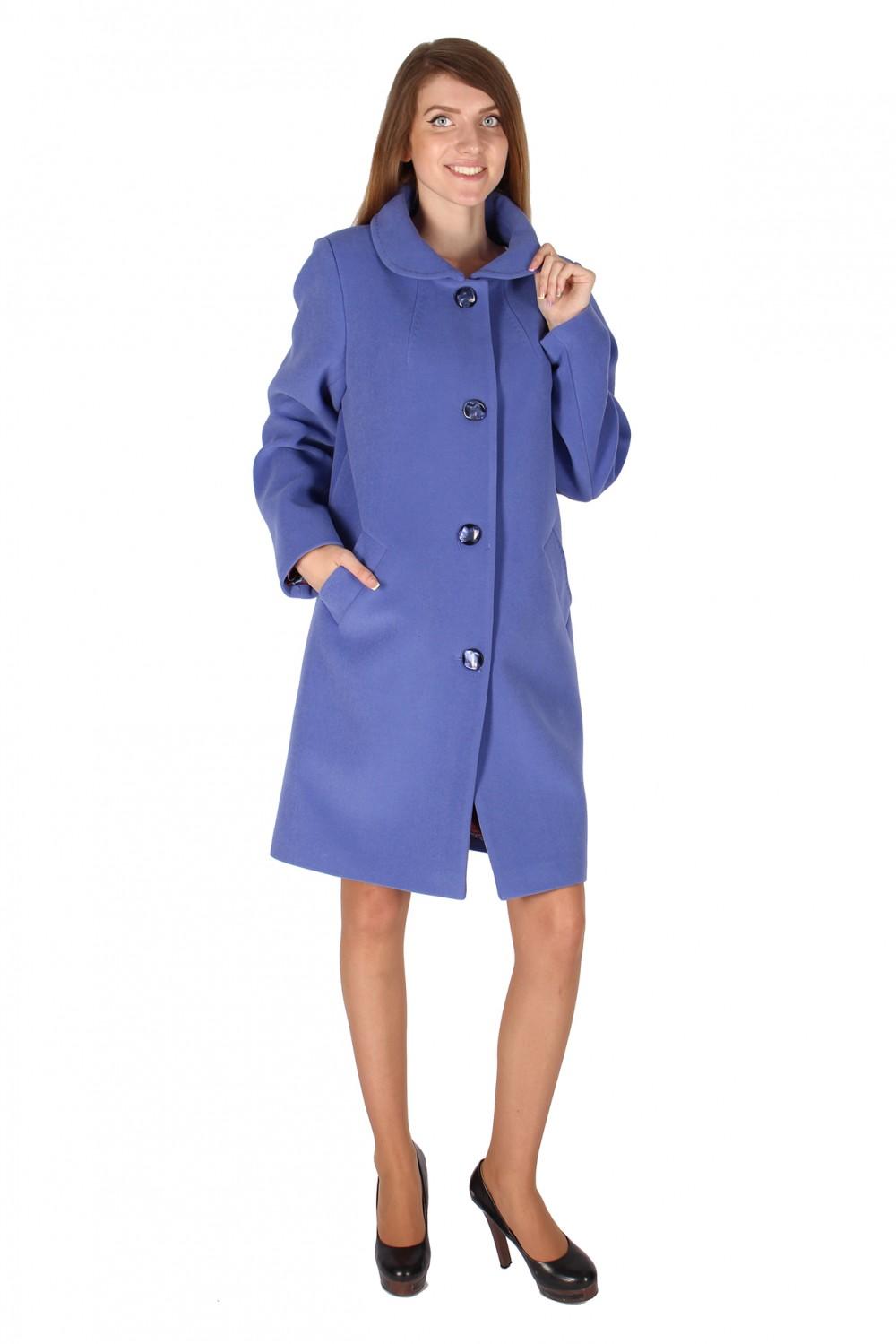 Купить  оптом Пальто женское голубого цвета 16318Gl