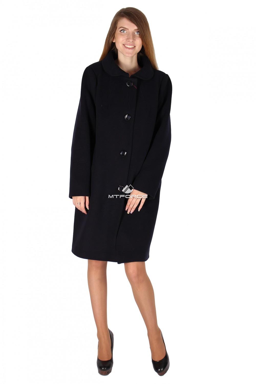 Купить  оптом Пальто женское черного цвета 16318Ch
