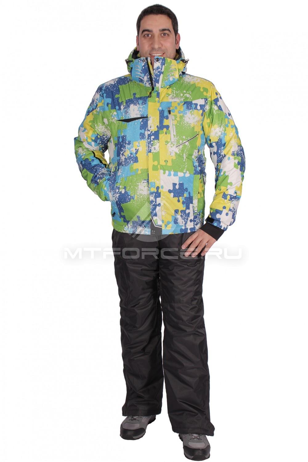 Купить                                  оптом Костюм горнолыжный мужской салатового цвета 01632Sl