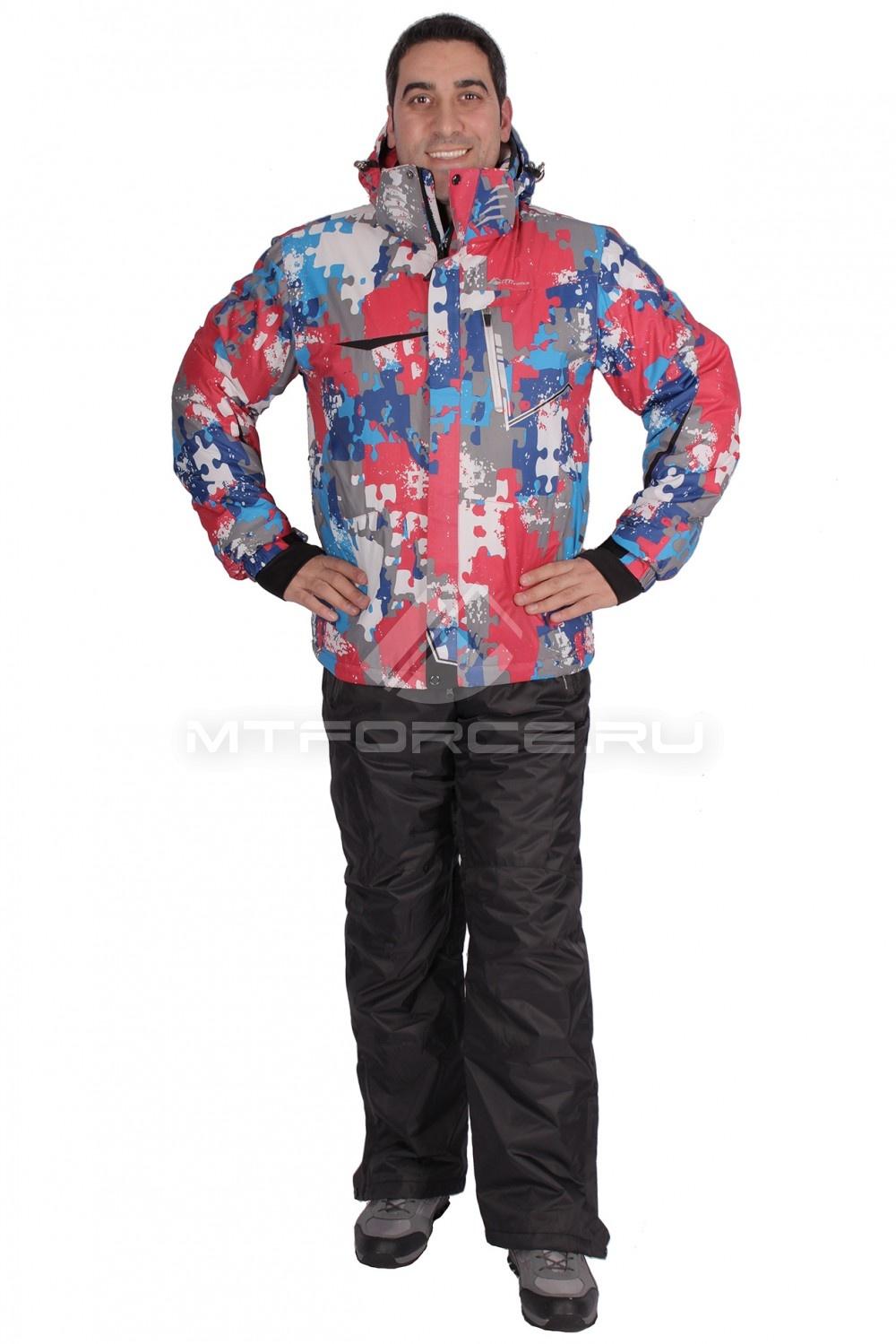 Купить  оптом Костюм горнолыжный мужской красного цвета 01632Kr в Новосибирске