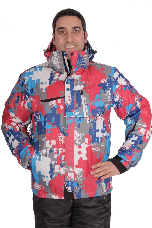 Купить                                  оптом Куртка горнолыжная мужская красного цвета 1632Kr