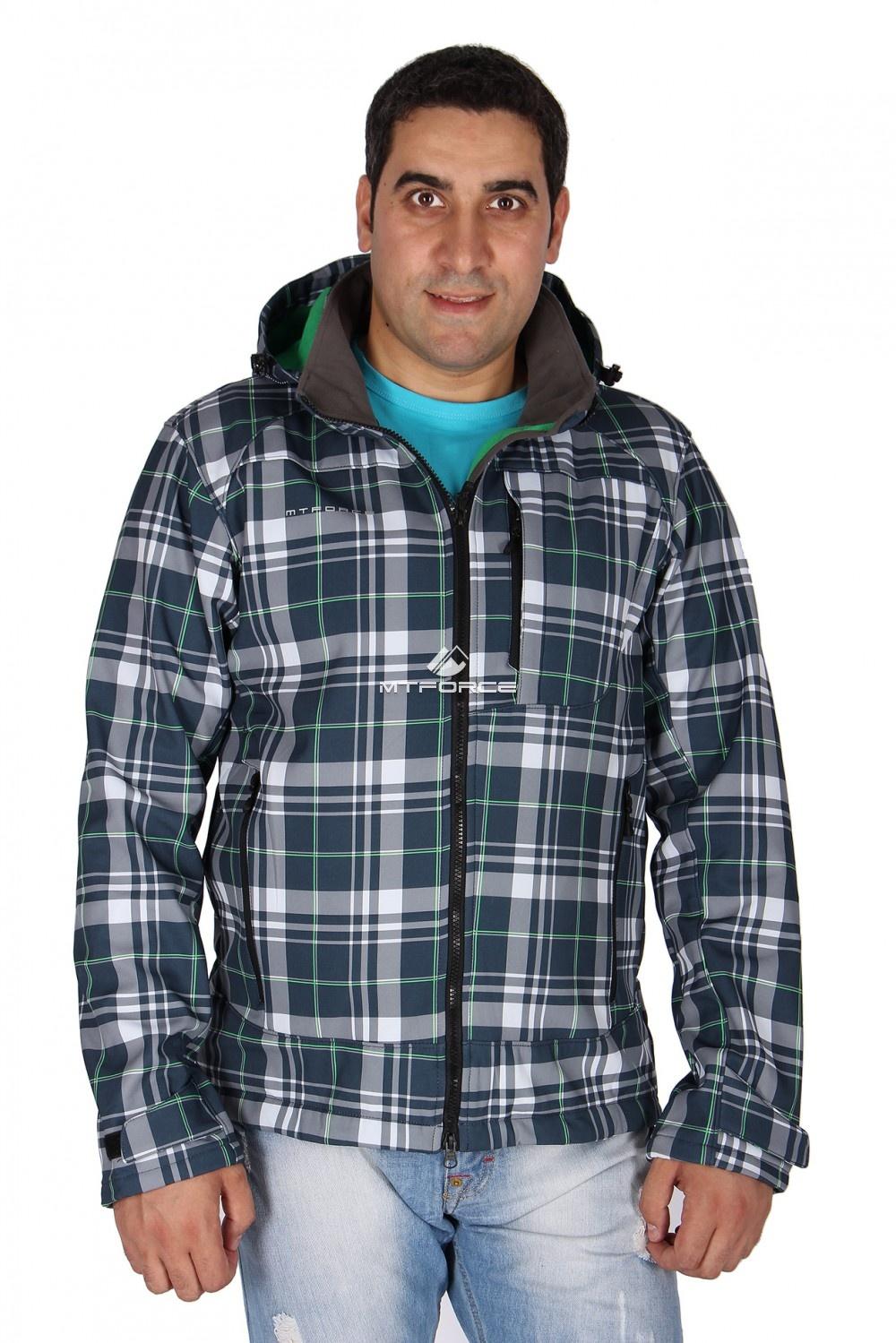 Купить                                  оптом Ветровка - виндстоппер мужская зеленого цвета 1636Z