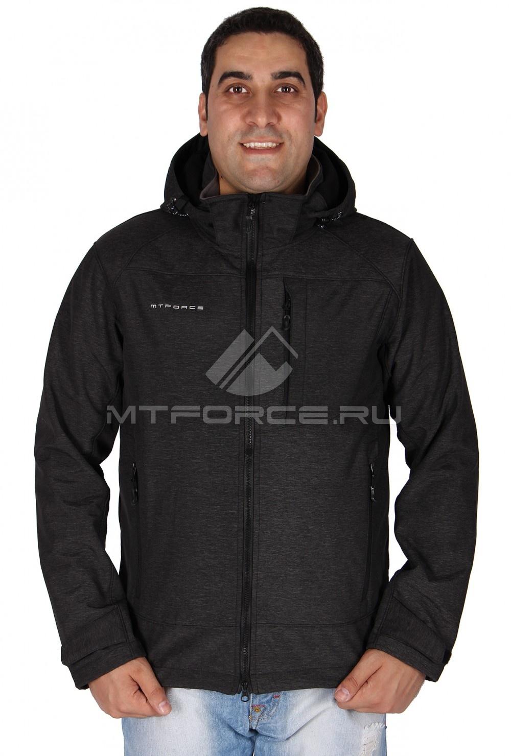 Купить                                  оптом Ветровка - виндстоппер мужская темно-серого цвета 1636TC
