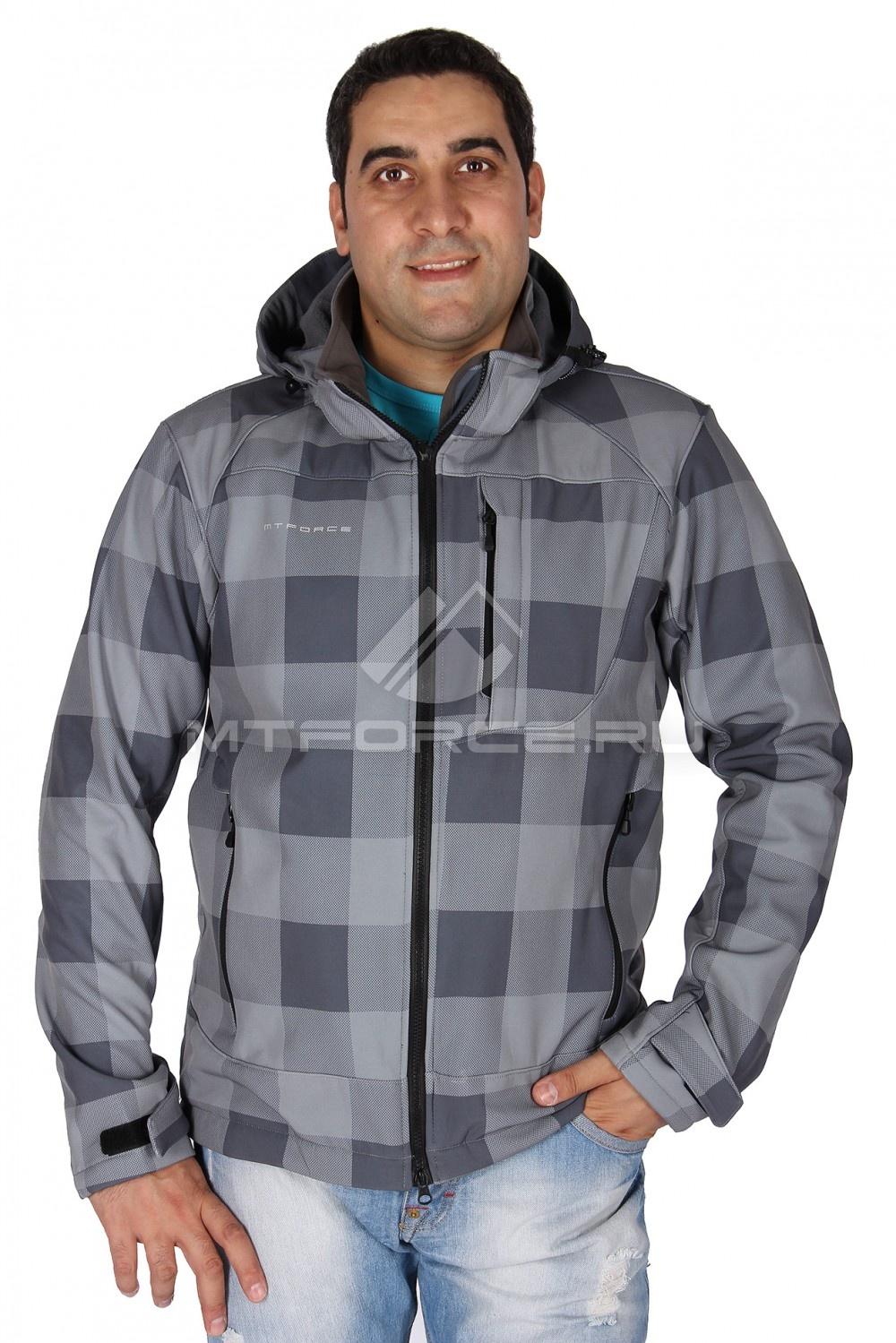 Купить  оптом Ветровка - виндстоппер мужская серого цвета 1636Sr