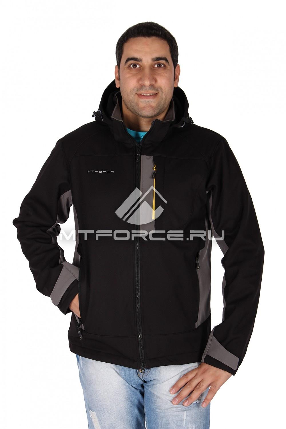 Купить                                  оптом Ветровка - виндстоппер мужская серого-черного цвета 1636Ch-Sr