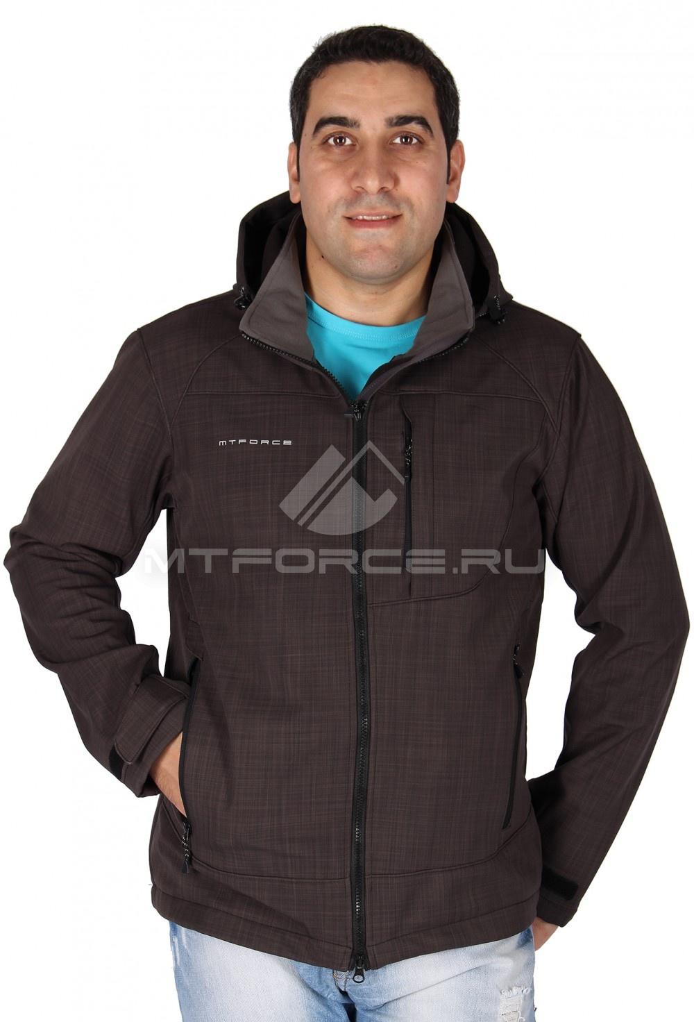 Купить                                  оптом Ветровка - виндстоппер мужская коричневого цвета 1636K