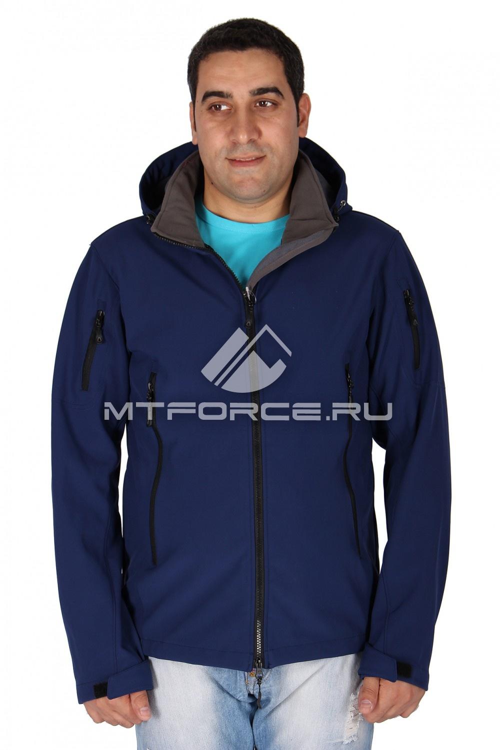 Купить                                  оптом Ветровка - виндстоппер мужская темно-синего цвета 1637TS