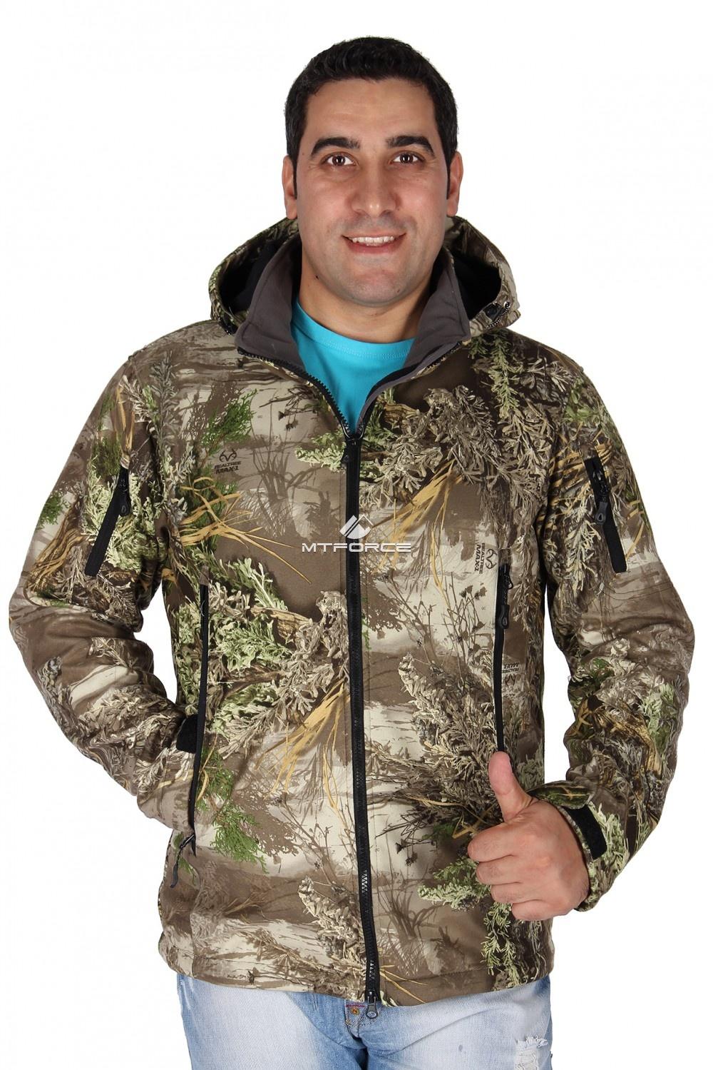 Купить                                  оптом Ветровка - виндстоппер мужская болотного цвета 1637Bt в Санкт-Петербурге