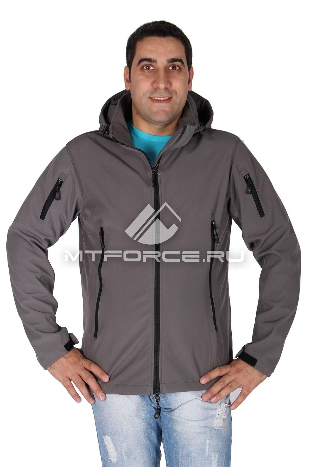 Купить                                  оптом Ветровка - виндстоппер мужская серого цвета 1637Sr