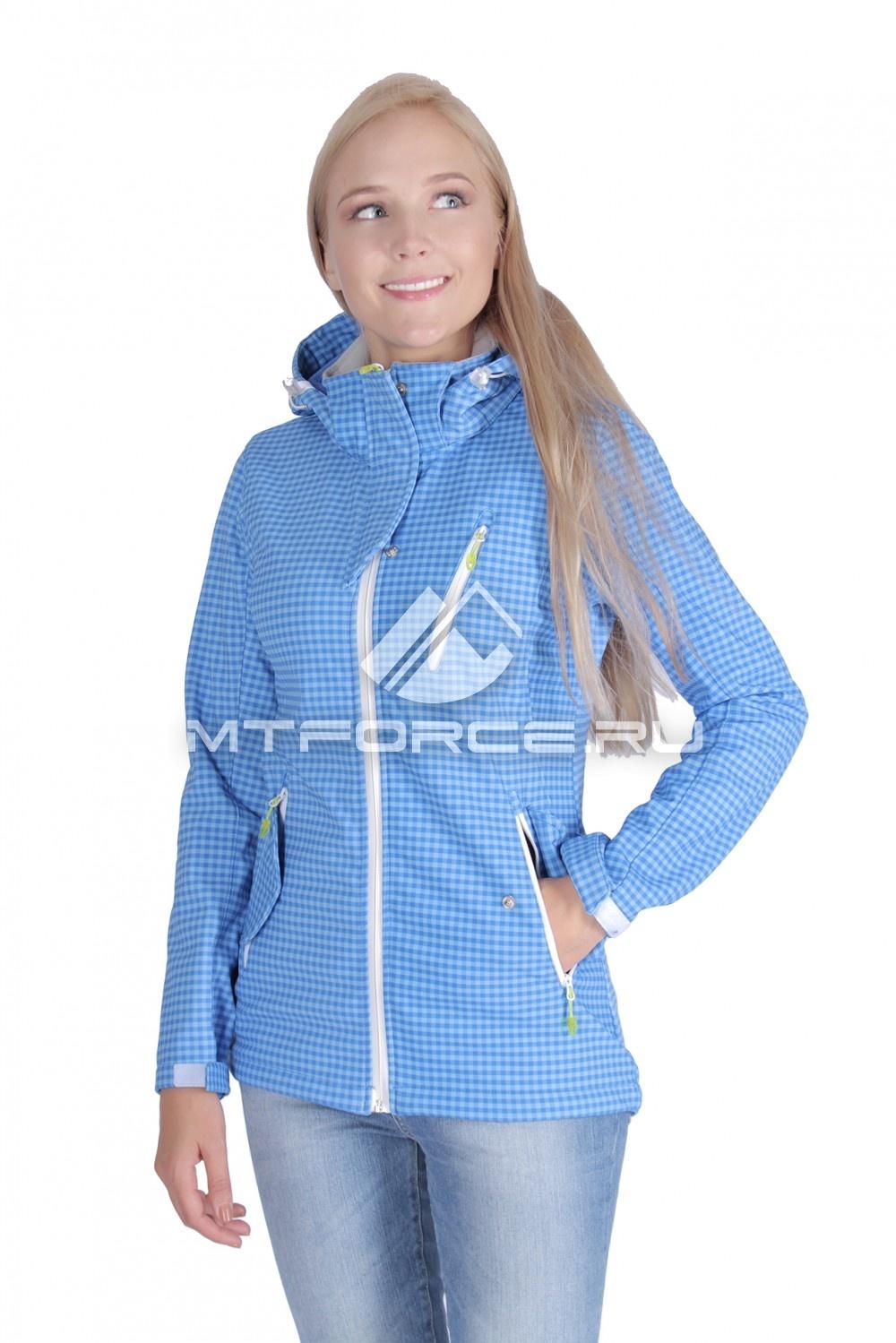 Купить                                  оптом Ветровка - виндстоппер женская голубого цвета 1638Gl