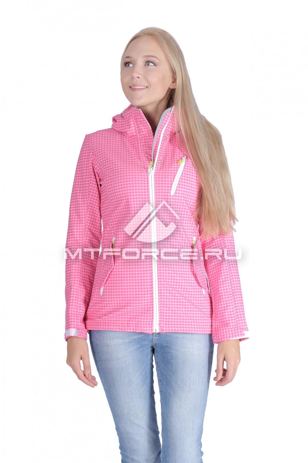 Купить оптом Ветровка - виндстоппер женская розового цвета 1638R
