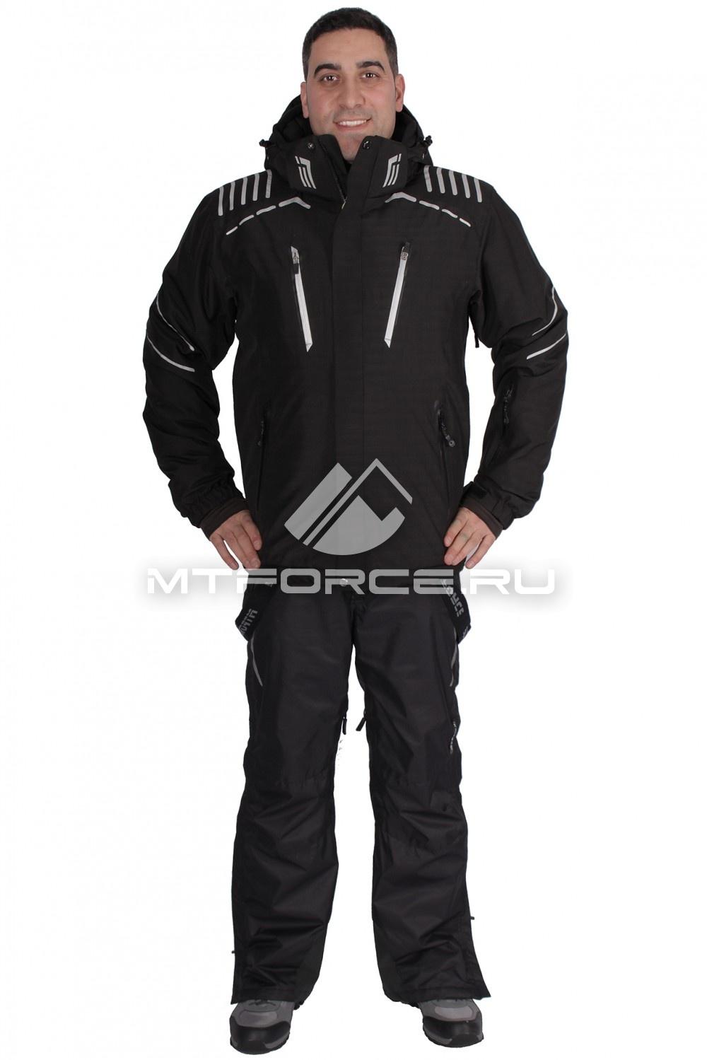 Купить                                  оптом Костюм горнолыжный мужской черного цвета 01653Ch