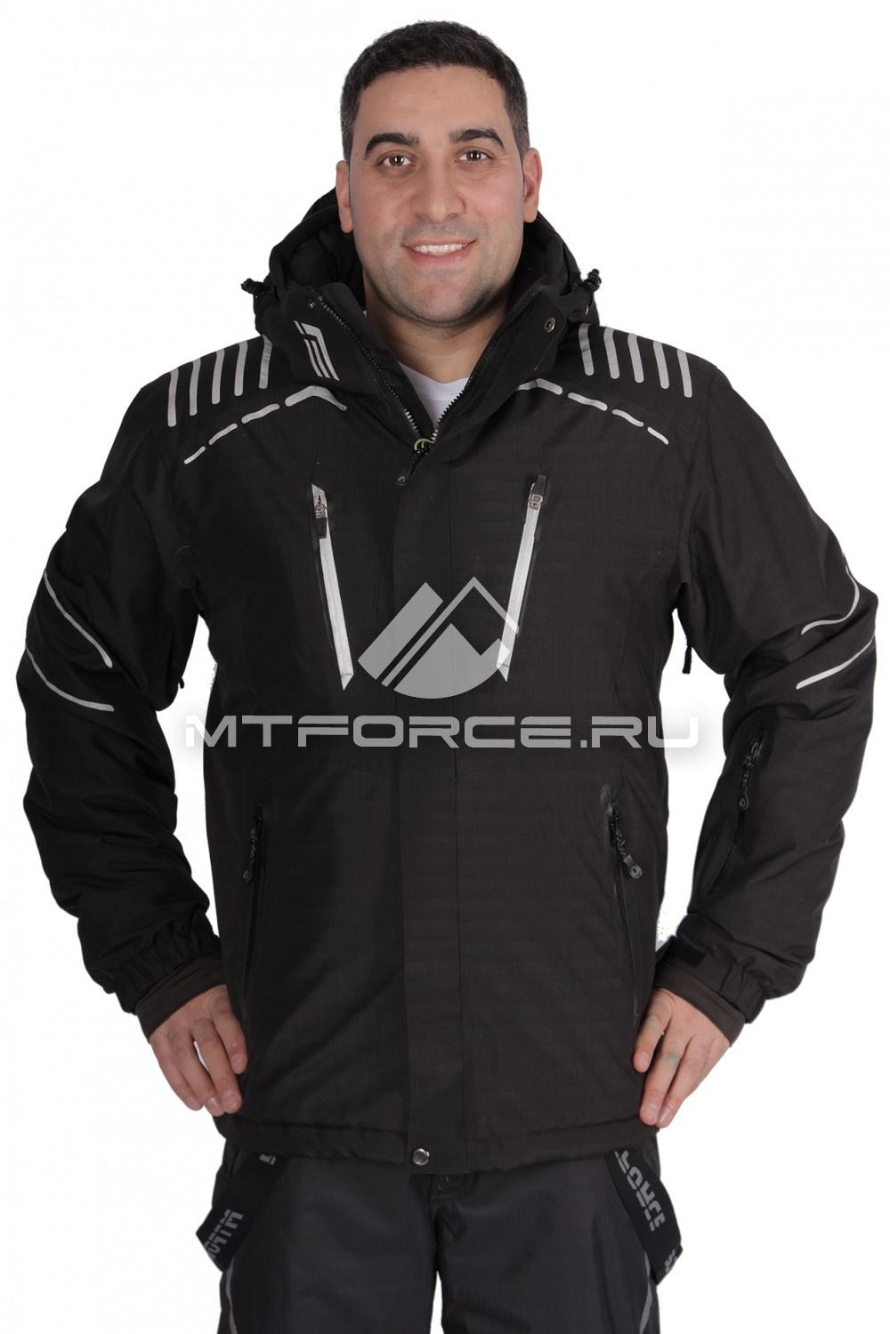 Купить                                  оптом Куртка горнолыжная мужская черного цвета 1653Ch