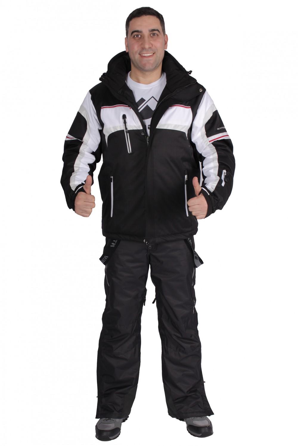 Купить оптом Костюм горнолыжный мужской черного цвета 01655Ch в Санкт-Петербурге