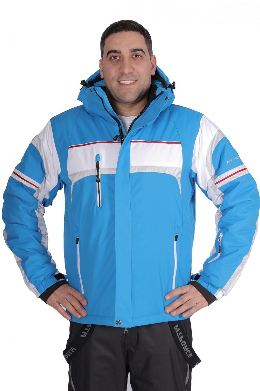 Купить                                  оптом Куртка горнолыжная мужская синего цвета 1655S в Санкт-Петербурге