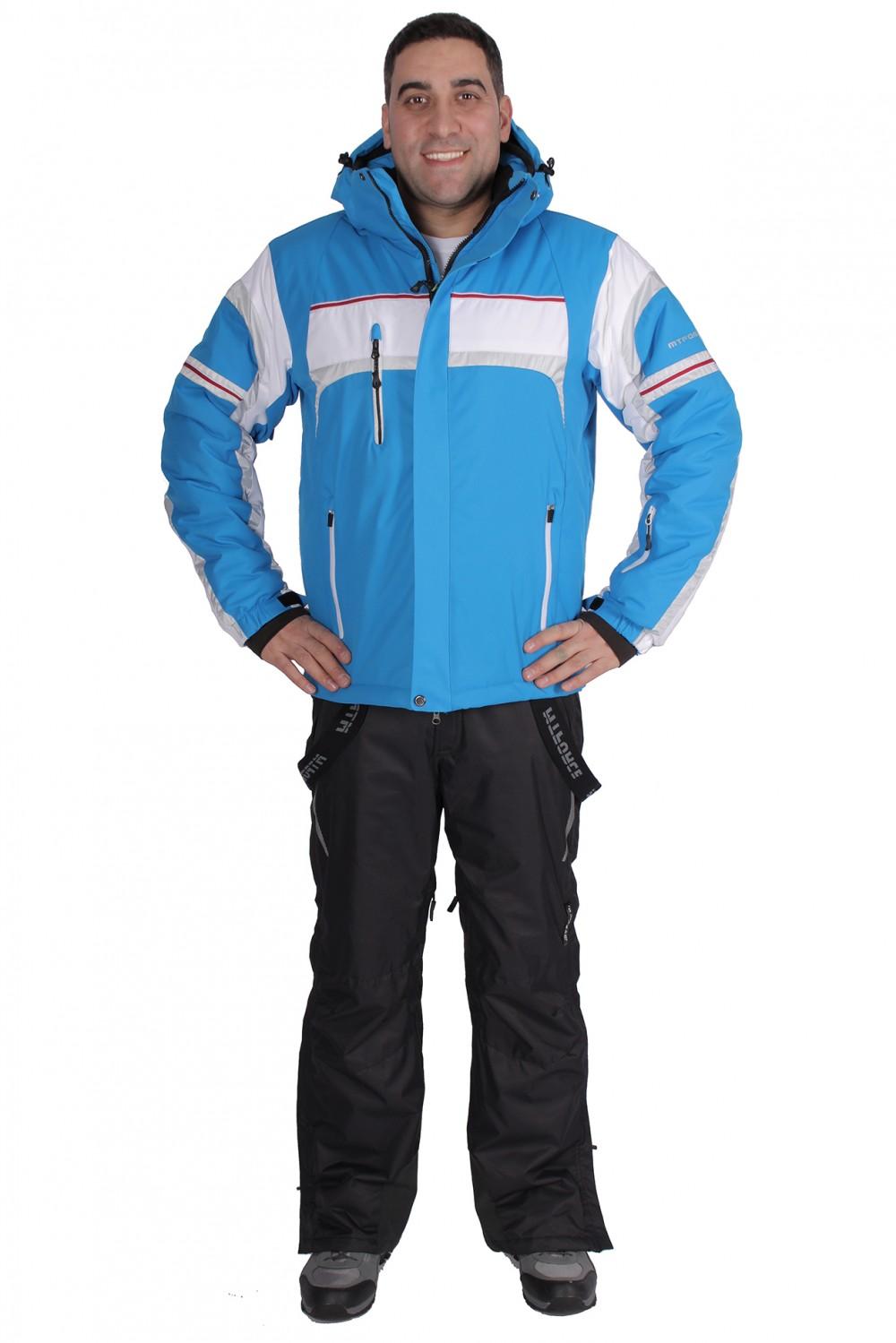 Купить  оптом Костюм горнолыжный мужской синего цвета 01655S