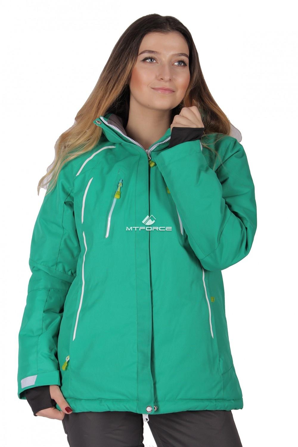 Купить  оптом Куртка горнолыжная женская зеленого цвета 1662Z