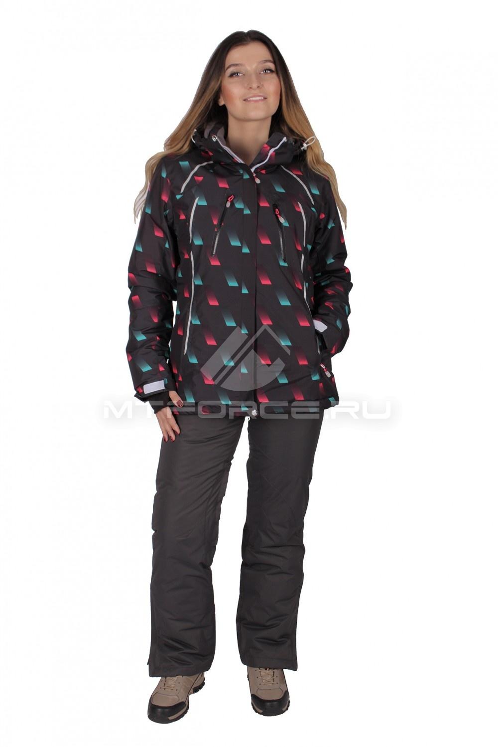 Купить                                  оптом Костюм горнолыжный женский черного цвета 01662Ch в Санкт-Петербурге