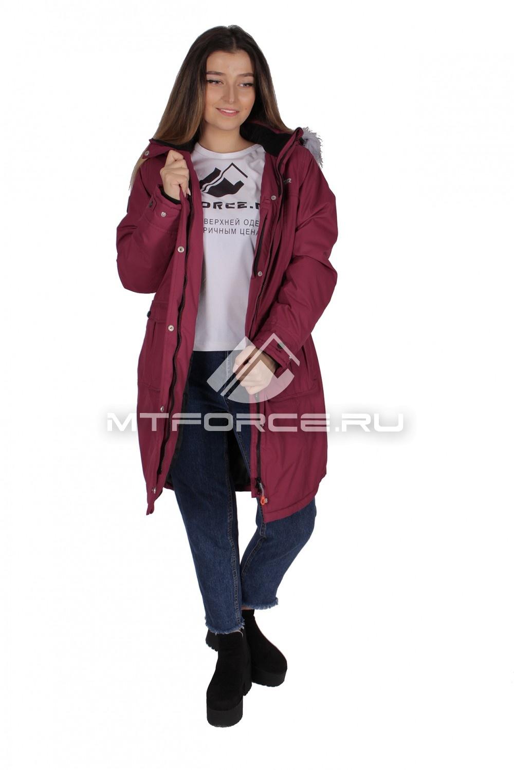 Купить                                  оптом Куртка парка демисезонная женская фиолетового цвета 16799F