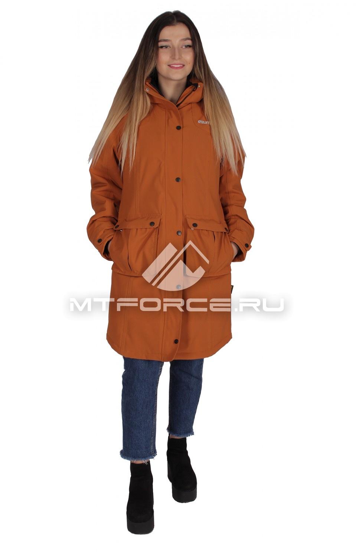 Купить                                  оптом Куртка парка демисезонная женская горчичного цвета 16799G