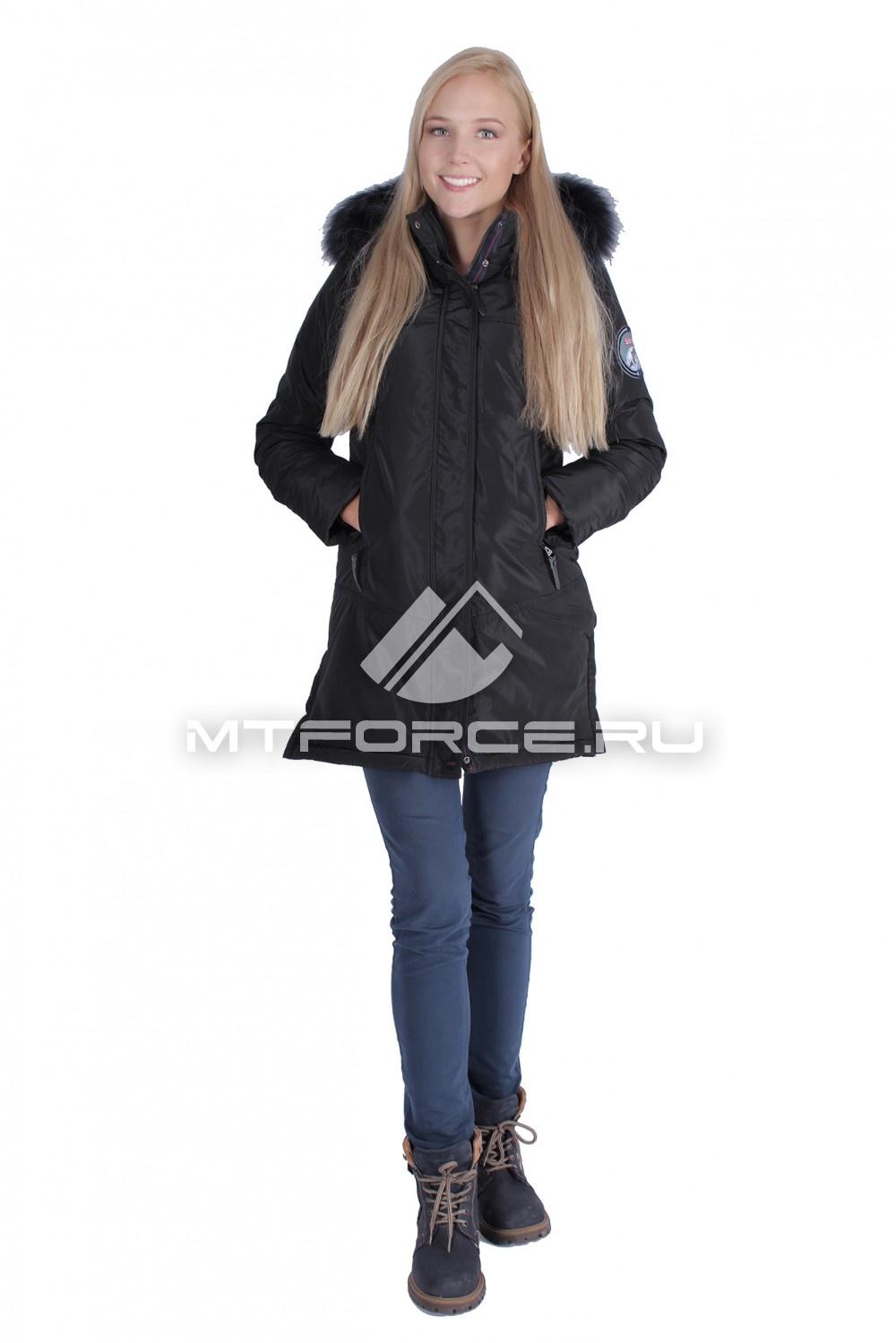 Купить                                  оптом Итальянская куртка женская черного цвета 1686Ch