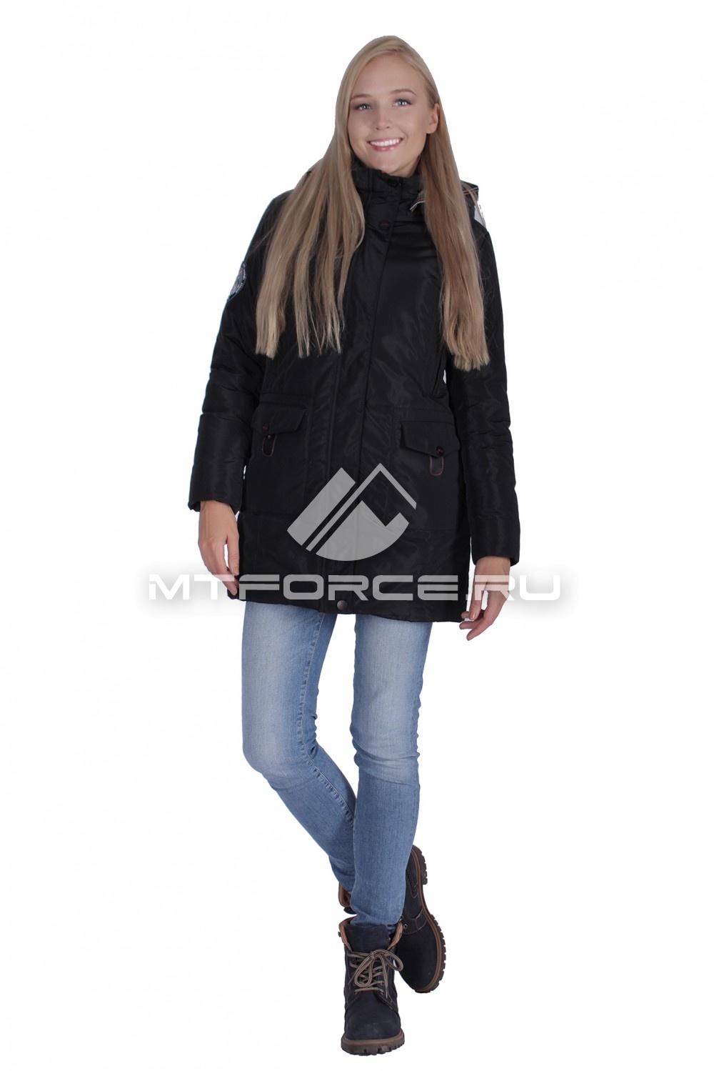 Купить                                  оптом Итальянская куртка женская черного цвета 1688Ch