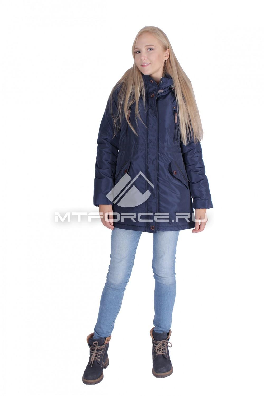 Купить                                  оптом Итальянская куртка женская темно-синего цвета 1689TS в Новосибирске
