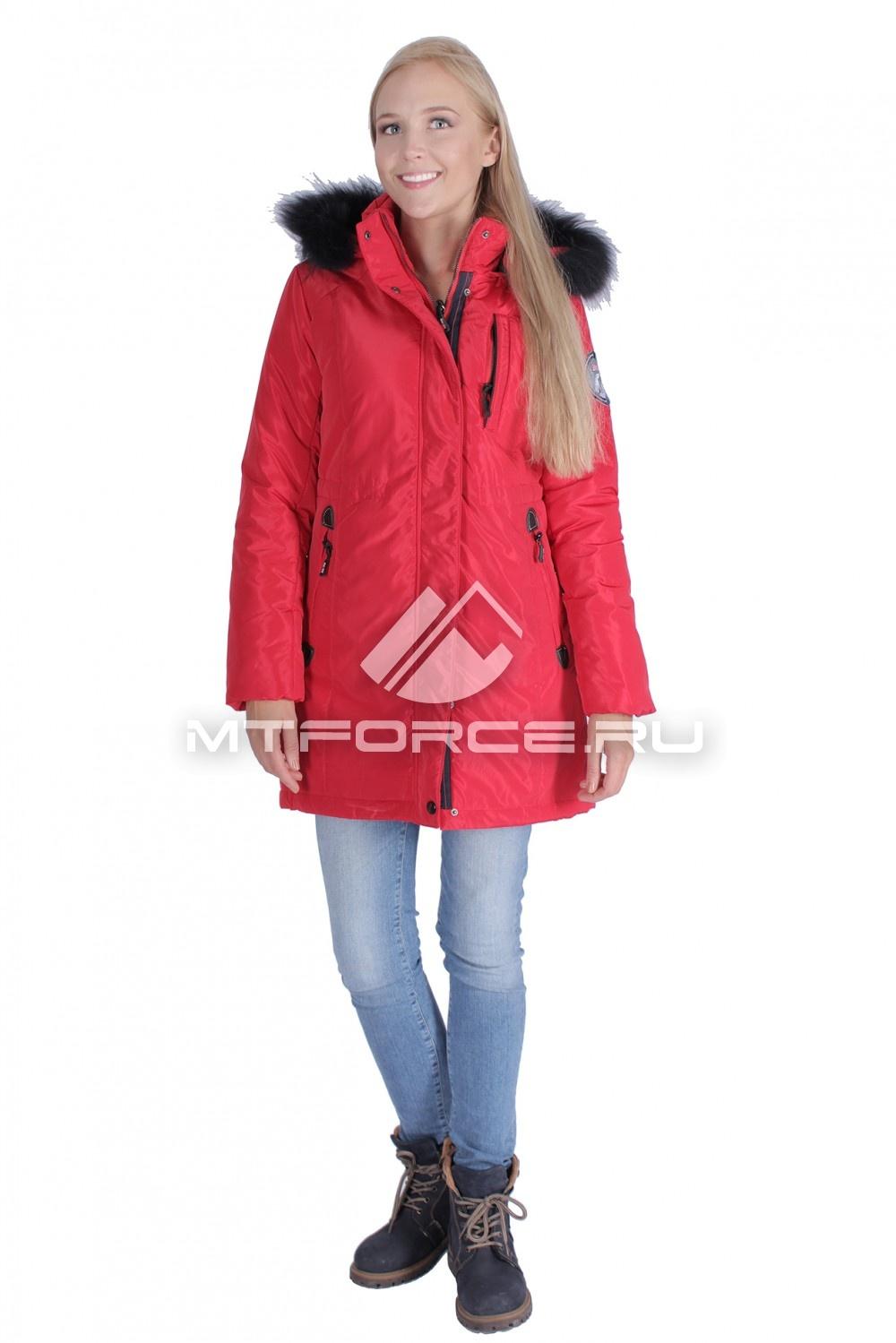Купить                                  оптом Итальянская куртка женская красного цвета 1690Kr