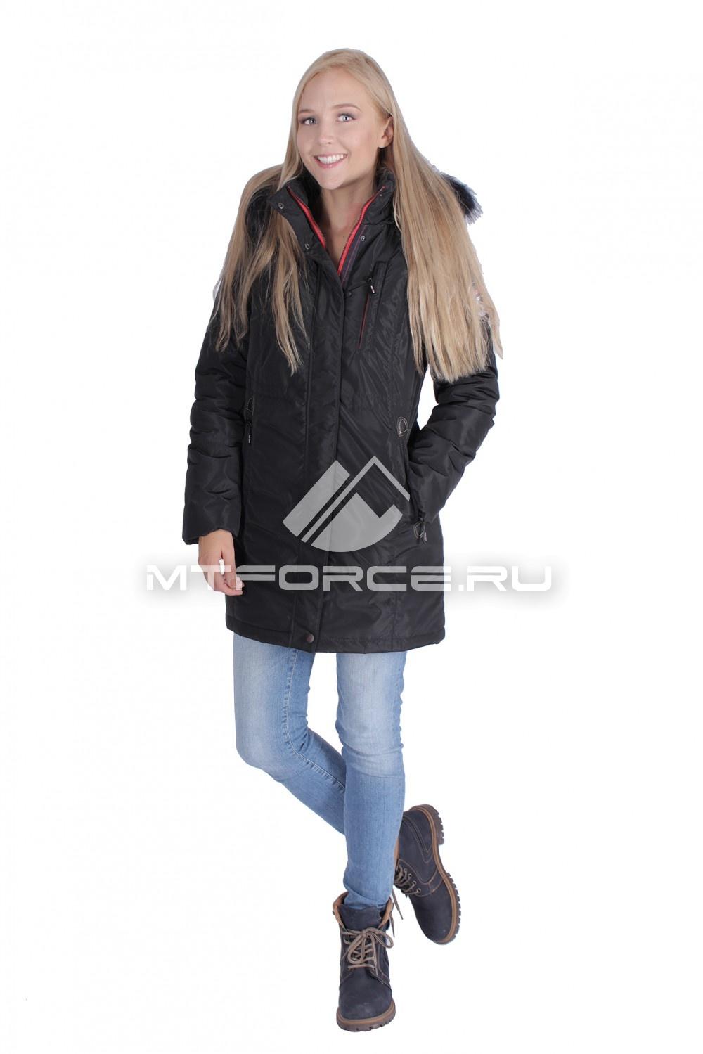 Купить оптом Итальянская куртка женская черного цвета 1690Ch