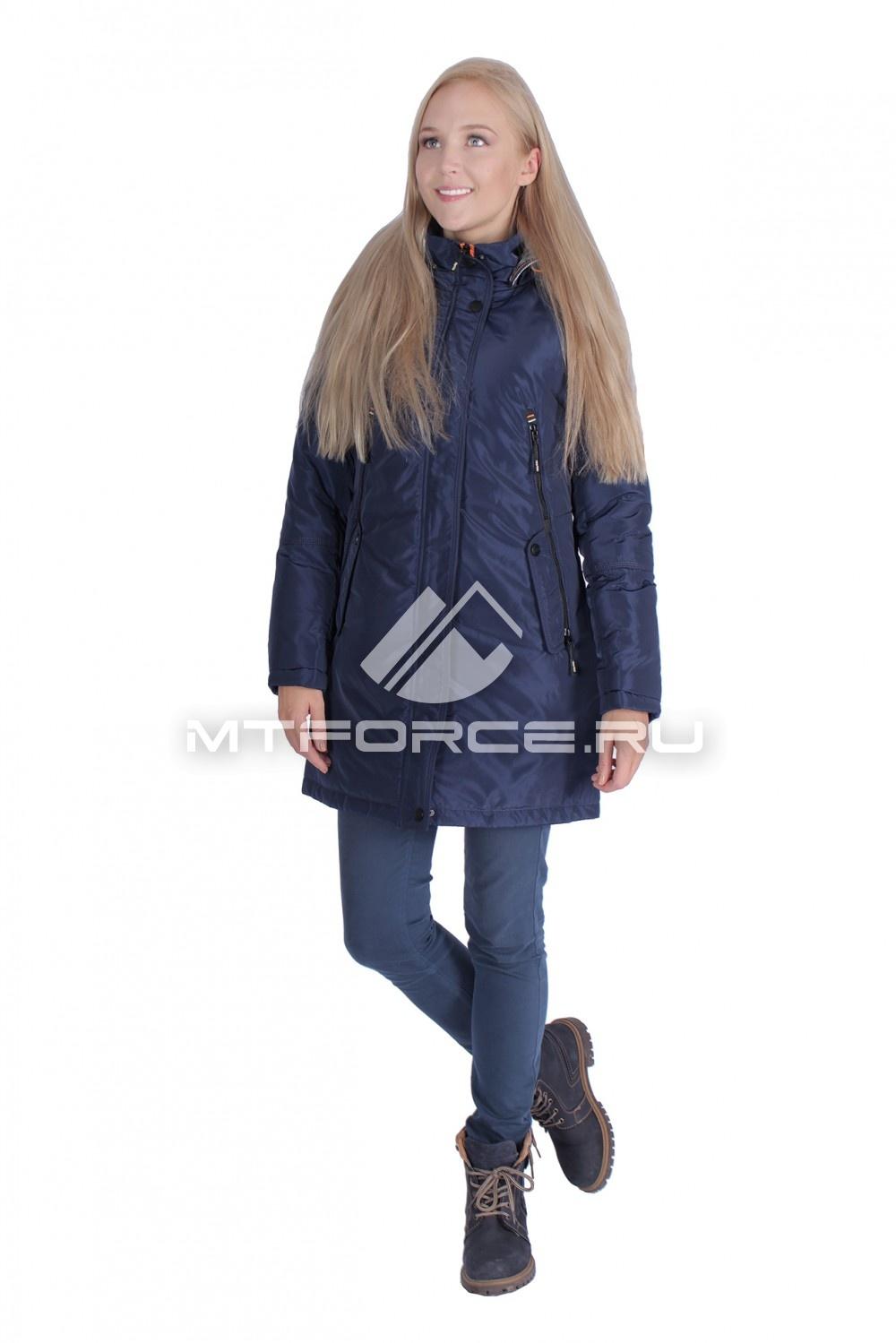 Купить оптом Итальянская куртка женская темно-чинего цвета 1691TS