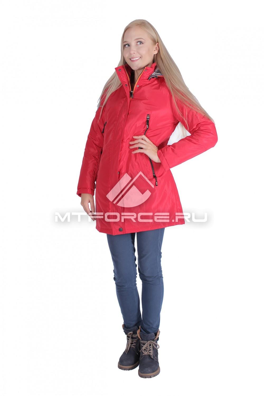 Купить  оптом Итальянская куртка женская красного цвета 1691Kr