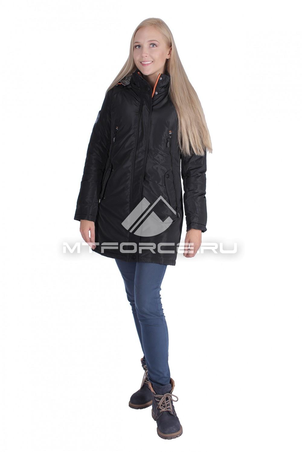 Купить                                  оптом Итальянская куртка женская черного цвета 1691Ch