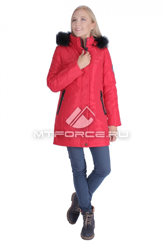 Купить                                  оптом Итальянская куртка женская красного цвета 1696Kr