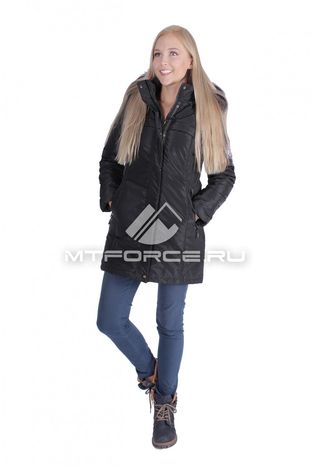 Купить оптом Итальянская куртка женская черного цвета 1696Ch