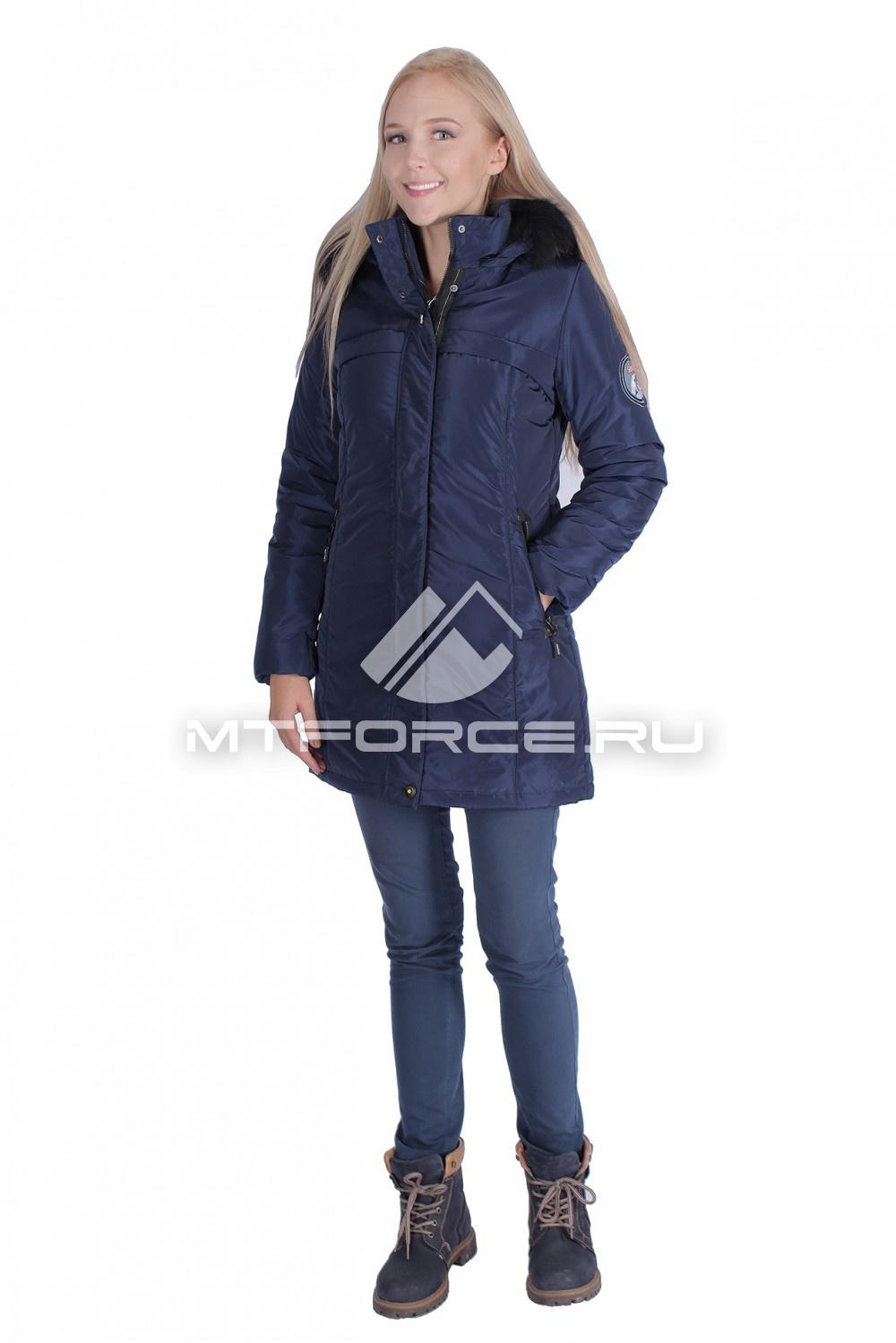 Купить                                  оптом Итальянская куртка женская темно-синего цвета 1696TS