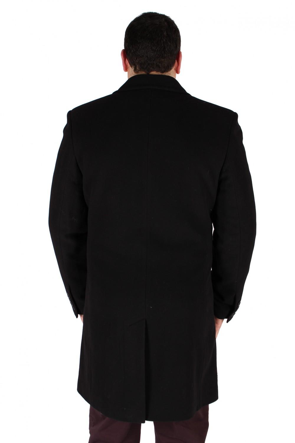 Купить оптом Пальто мужское черного цвета 16Ch в Казани