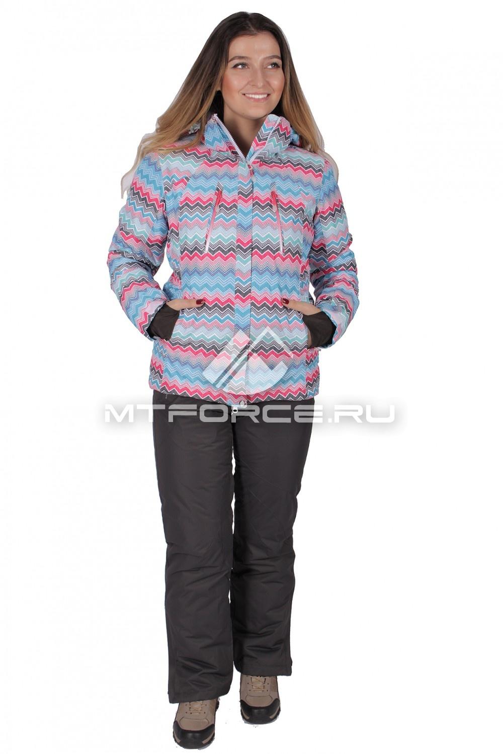 Купить                                  оптом Костюм горнолыжный женский розового цвета 01701R