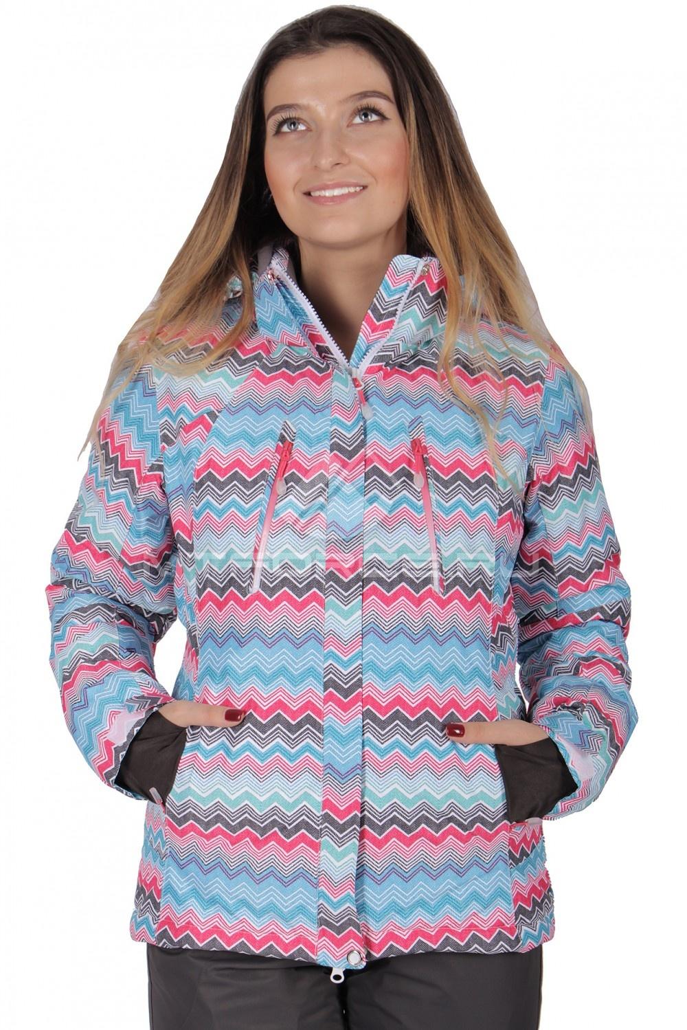 Купить                                  оптом Куртка горнолыжная женская розового цвета 1701R