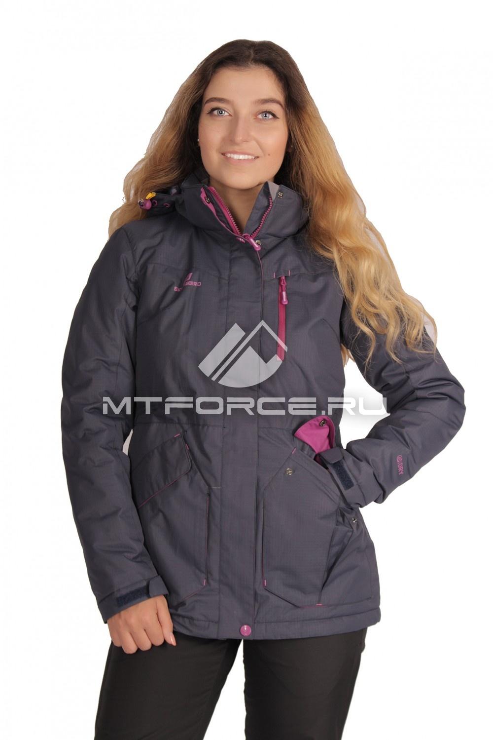 Купить                                  оптом Куртка демисезонная женская темно-синего цвета 1702TS