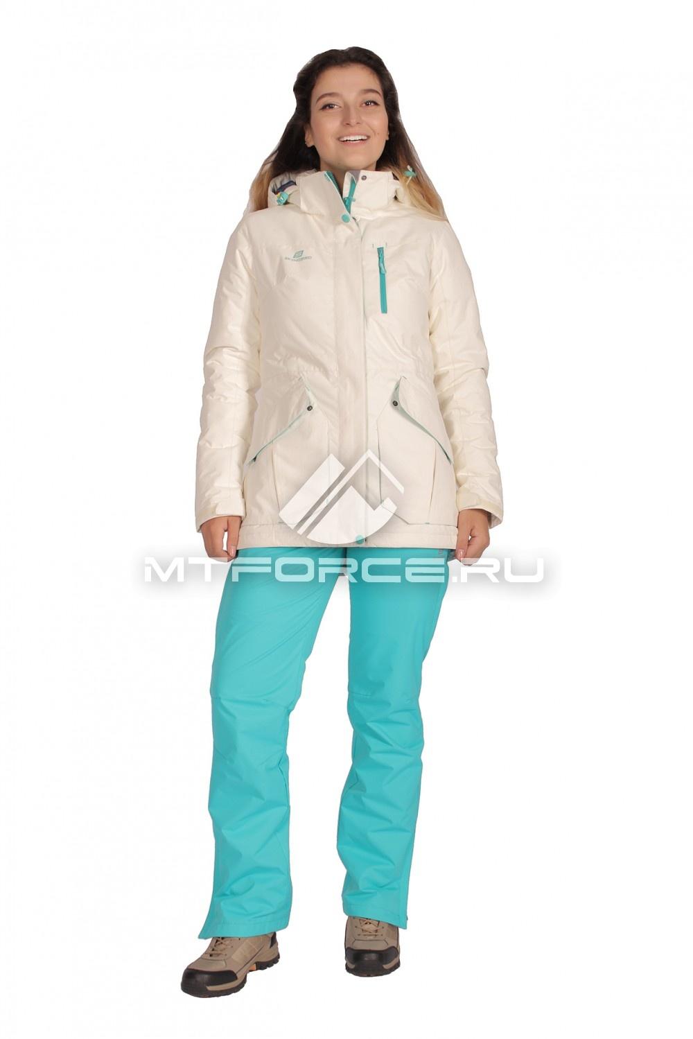 Купить                                  оптом Костюм демисезонный женский белого цвета 01702Bl