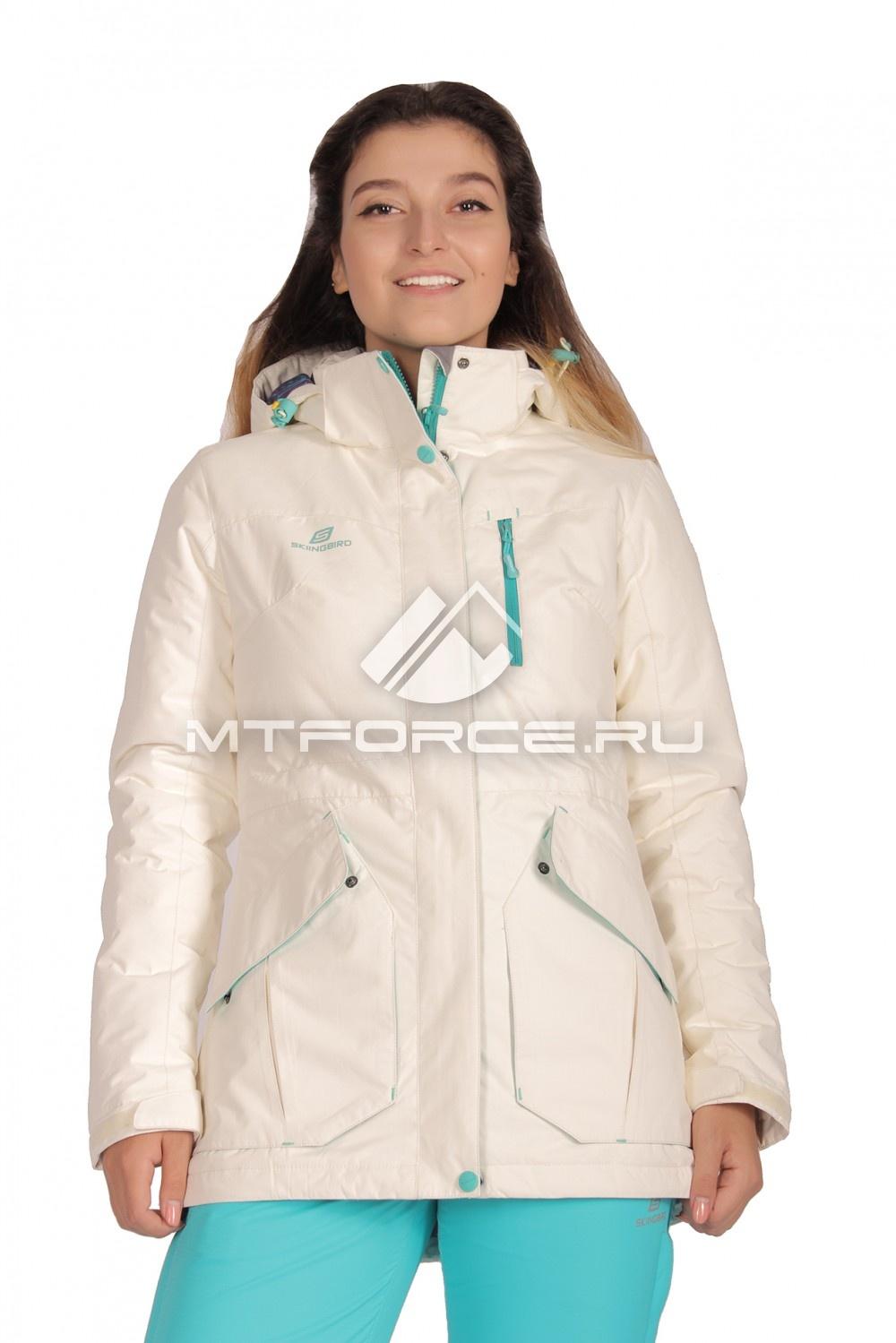 Купить                                  оптом Куртка демисезонная женская белого цвета 1702Bl в Санкт-Петербурге