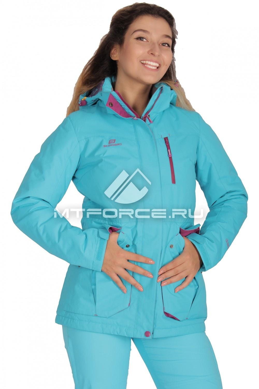 Купить                                  оптом Куртка демисезонная женская голубого цвета 1702Gl